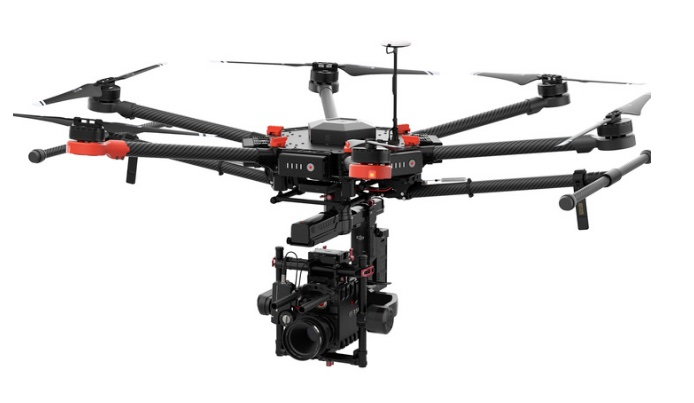 DJI Matrice 600 Hexacopter for aerial inspection and filming heavylift drone technology