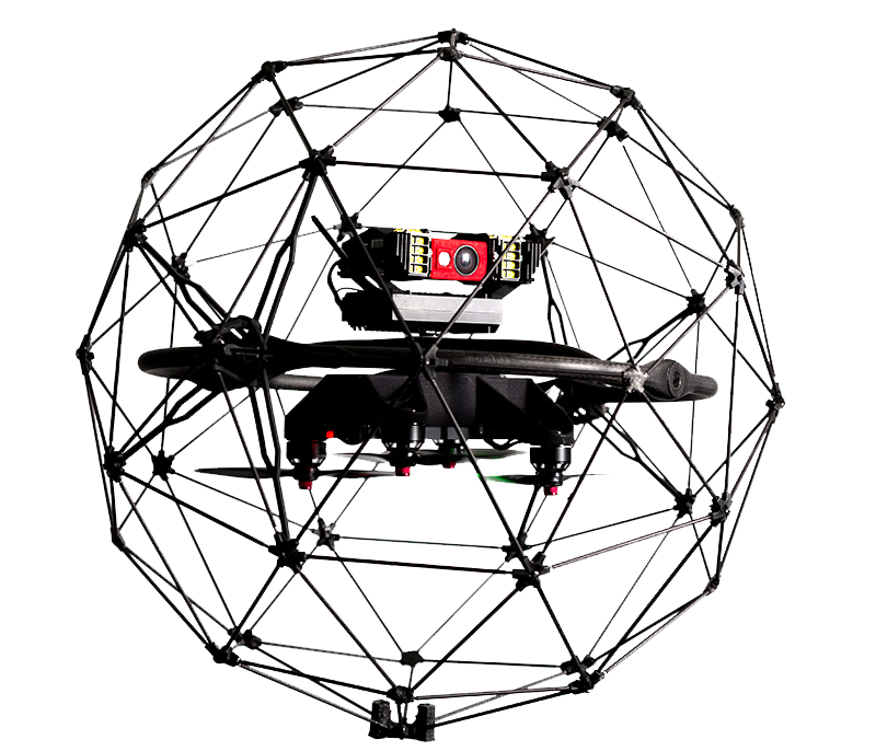 Flyability Elios Collision Tollerant Drone Technology with Thermal and RGB camera attachements
